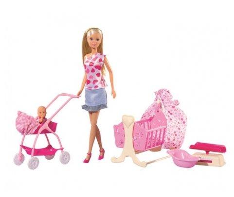 Simba Набор кукол Steffi Love Штеффи с новорожденным, 29 см, 5730861