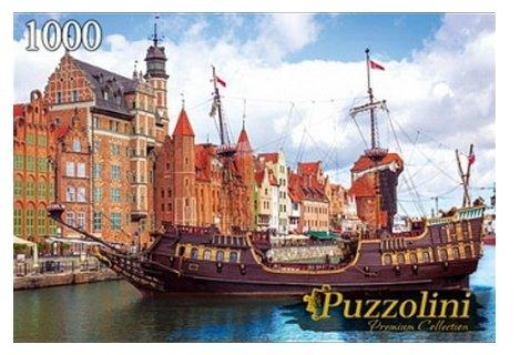Пазл Рыжий кот Puzzolini Польша Город Гданьск (GIPZ1000-7716), 1000 дет.