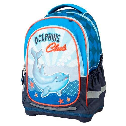 Target Рюкзак супер лёгкий Дельфины №2 (17309) голубой/синийРюкзаки, ранцы<br>