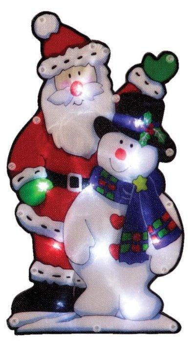 Панно Волшебная страна Дед мороз и снеговик (986105)