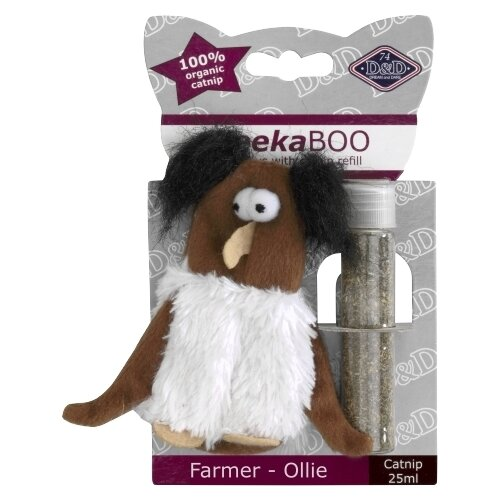 Набор игрушек для кошек D&D Farmer-Ollie белый/коричневый