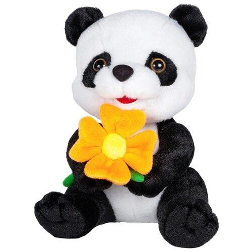 maxitoys мягкая игрушка maxitoys luxury slim лисичка с цветочком 33 см Мягкая игрушка Maxitoys Панда с цветочком 22 см