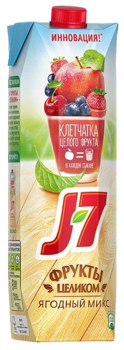 Нектар J7 Фрукты целиком Яблоко-Ягоды, без сахара
