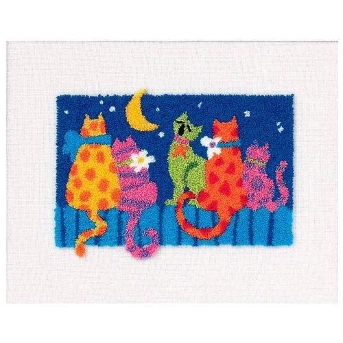 Dimensions Набор для вышивания Продергивание Полуночные коты 25 х 20 см (73151)Наборы для вышивания<br>
