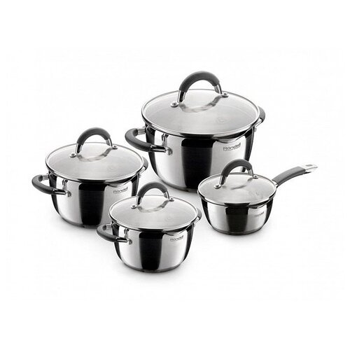 Набор посуды Rondell Flamme RDS-040 8 пр. стальнойНаборы посуды для готовки<br>