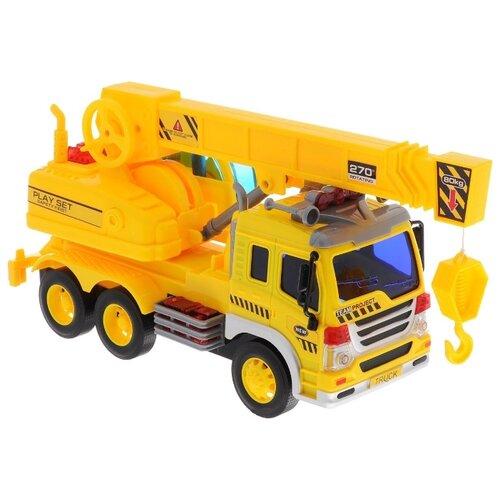 Купить Автокран ABtoys WY305S 1:16 28.5 см желтый, Машинки и техника