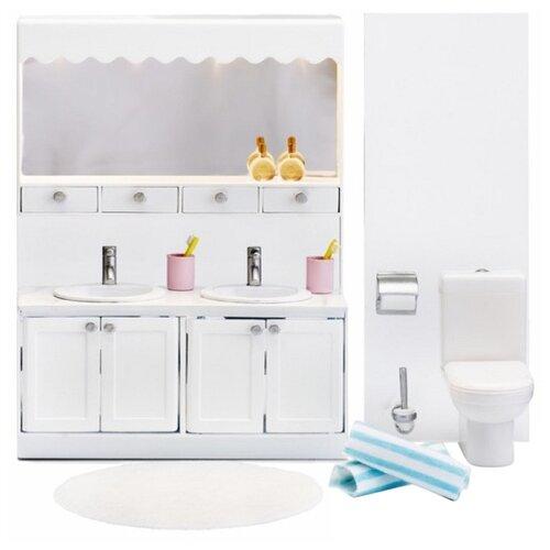 Купить Lundby Набор мебели для ванной комнаты с 2 раковинами Смоланд (LB_60208800) белый, Мебель для кукол