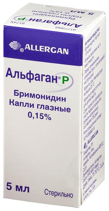 Альфаган Р гл.капли 0,15% фл.-капельница 5 мл №1