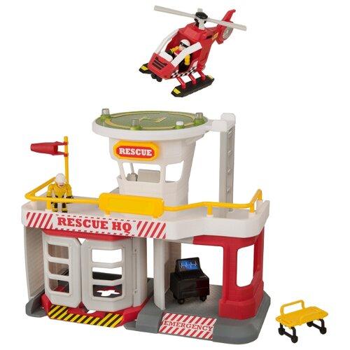Купить HTI Игровой набор Спасательная станция МЧС Teamsterz: Air Rescue HQ 1416247 белый/красный, Детские парковки и гаражи