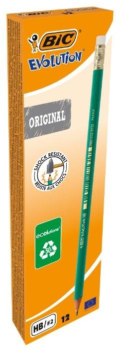 BIC Набор чернографитных карандашей Evolution Original 12 шт (880332)