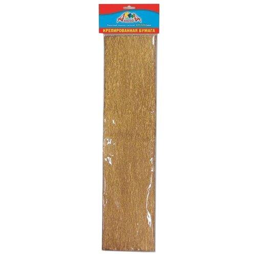 Купить Цветная бумага крепированная Золото Апплика, 50х250 см, 1 л., Цветная бумага и картон