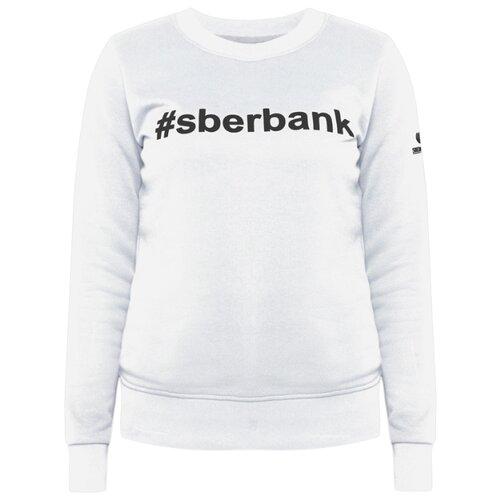 Свитшот #sberbank женский размер 48, белый костюм домашний женский mia cara свитшот бриджи цвет голубой белый aw15 uat lst 289 размер 46 48