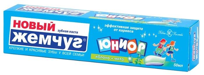 Зубная паста Новый Жемчуг Юниор Яблоко и мята от 7 до 14 лет
