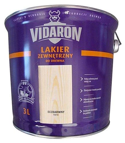 Лак VIDARON Для древесины для наружных работ полуглянцевый (3 л)
