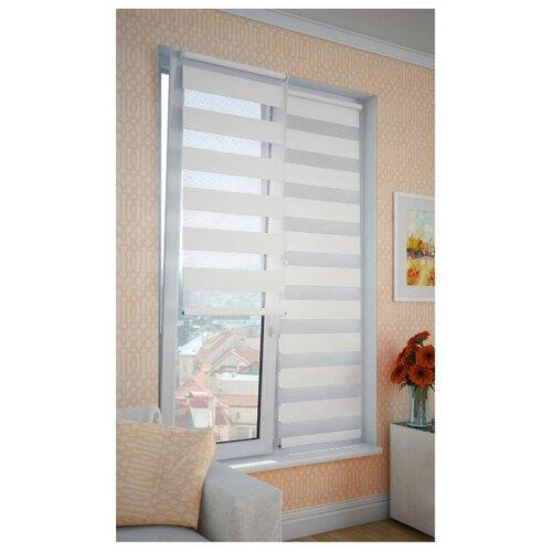 Рулонная штора DDA День-ночь (белый), 68х160 смРимские и рулонные шторы<br>