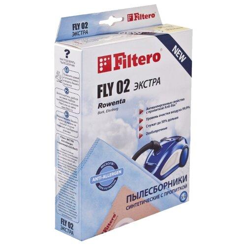 цена на Filtero Мешки-пылесборники FLY 02 Экстра 4 шт.