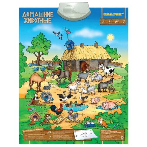 Электронный плакат Знаток Домашние животные PL-10-ZH электронный звуковой плакат знаток весёлый зоопарк pl 06 zoo