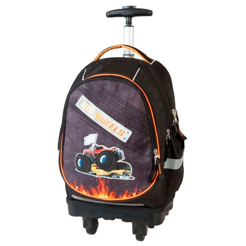 Купить Target Рюкзак-тележка Большие колеса (17891), черный/серый/оранжевый, Рюкзаки, ранцы