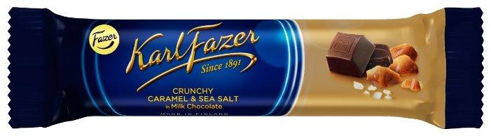 Батончик Fazer Karl Fazer с кусочками карамели и морской солью, 37 г