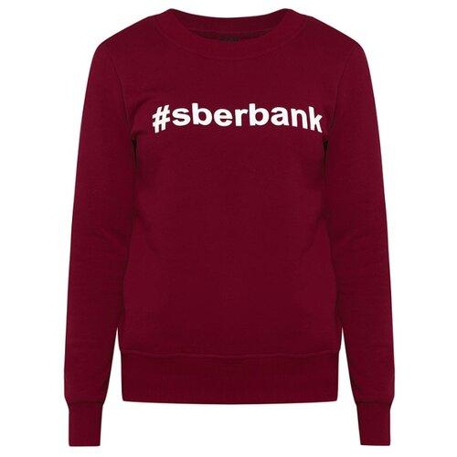 Свитшот #sberbank женский размер 50, бордоОдежда и аксессуары<br>