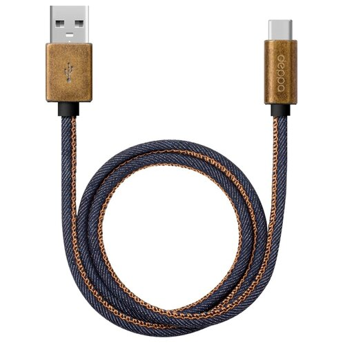 Фото - Кабель Deppa Jeans USB - USB Type-C (72277) 1.2 м синий кабель deppa usb c usb c 1 м 72284
