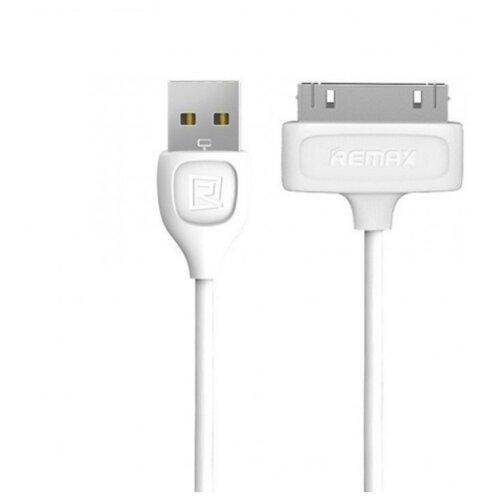 Кабель Remax Lesu USB - Apple 30 pin (RC-050) 1 м белыйКомпьютерные кабели, разъемы, переходники<br>