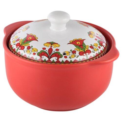 Кастрюля Appetite Narino Карусель 1,6 л, красный/белый кастрюля appetite карусель 4 л белый красный