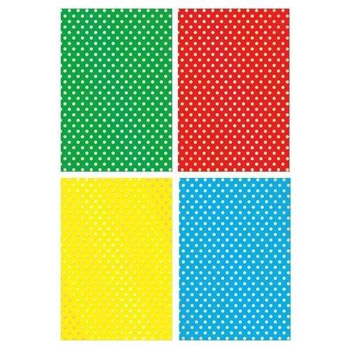 Купить Цветной картон с тиснением Кружочки Апплика, A4, 4 л., Цветная бумага и картон