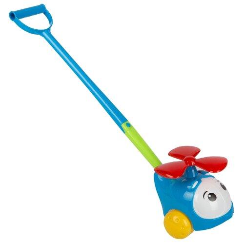 Каталка-игрушка Stellar Вертолетик (01376) со звуковыми эффектами синий