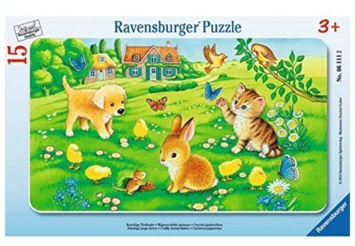 Пазл Ravensburger Симпатичные детеныши (06111), 15 дет.