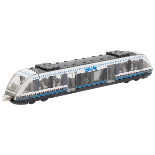 цена на Трамвай ТЕХНОПАРК 1079WB-R 16.5 см белый/серый/голубой