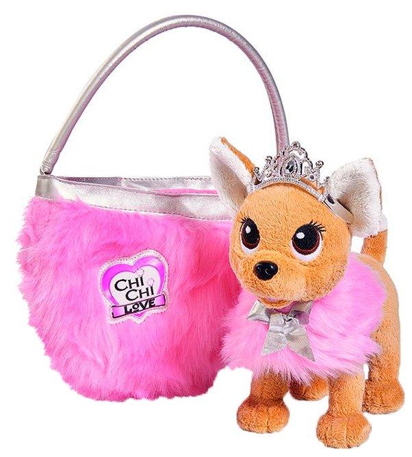 Мягкая игрушка Simba Chi chi love Собачка принцесса с сумкой и накидкой 20 см