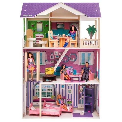 Купить PAREMO кукольный домик Флоренция (с мебелью) PD318-14, фиолетовый/розовый, Кукольные домики