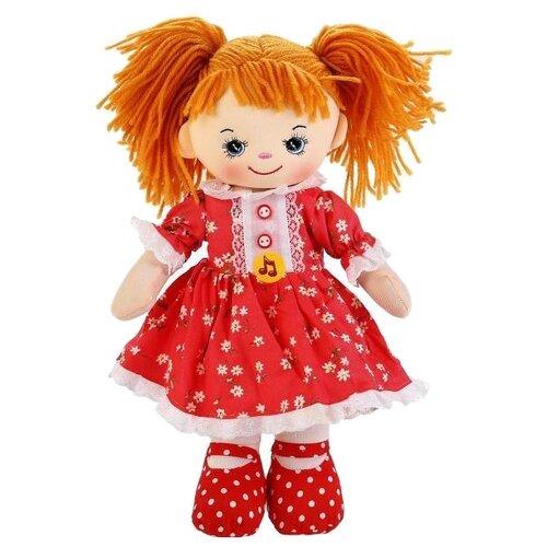 Мягкая игрушка Мульти-Пульти Мягкая кукла рыжая в красном платье 40 см фото