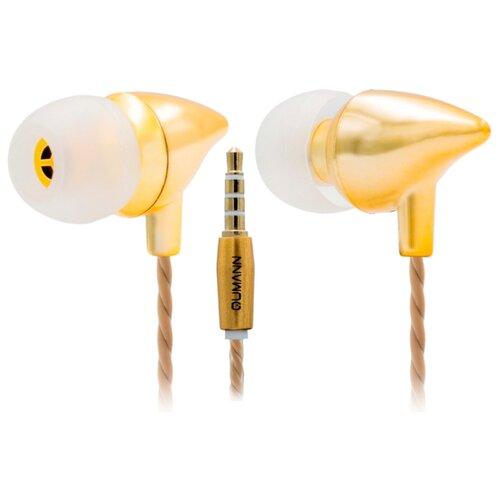Наушники Qumann QSE-02 золотой металлик