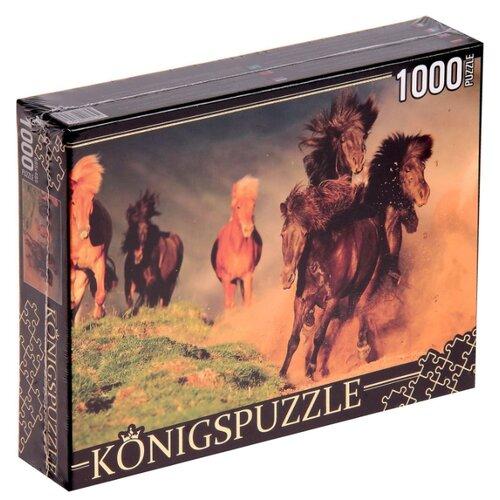 цена на Пазл Рыжий кот Konigspuzzle Табун лошадей (КБК1000-6456), 1000 дет.