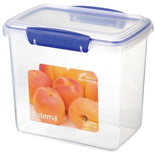 Sistema Контейнер KLIP IT Rectangular 1680 прозрачный контейнер для капусты klip it 3 5 л 22х15 см синий 1490 sistema