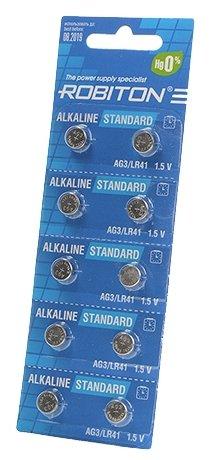 Батарейка ROBITON Alkaline Standart AG3/LR41