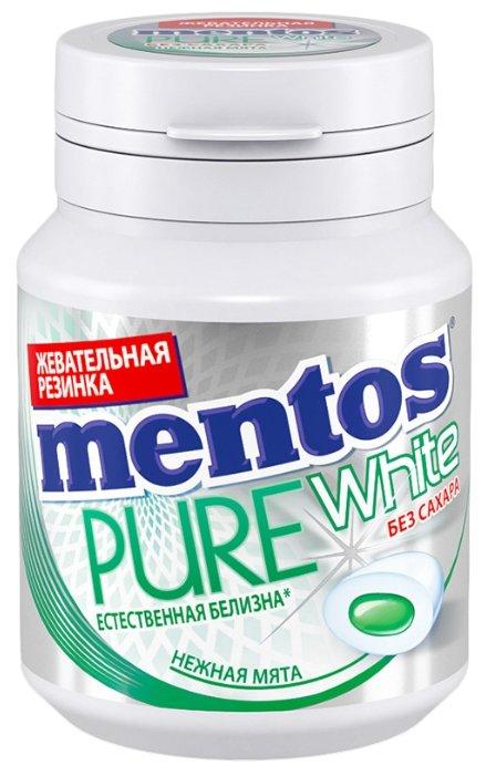 Жевательная резинка MENTOS Pure white Нежная мята 54 г