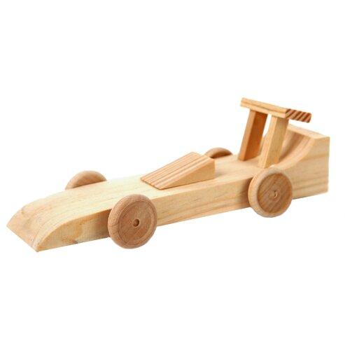 Купить Сборная модель Мир деревянных игрушек Гоночная машина (Д076), Сборные модели
