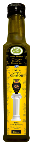 Korvel Масло оливковое Экстра Вирджин, стеклянная бутылка Данаи