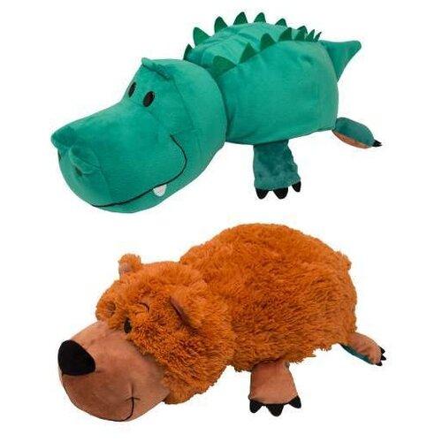 Купить Мягкая игрушка 1 TOY Вывернушка Медведь-Крокодил 20 см, Мягкие игрушки