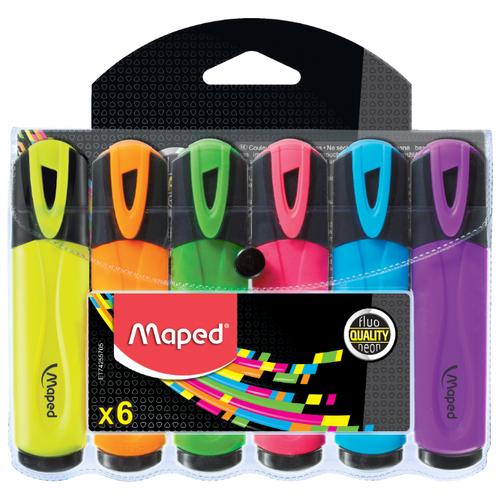 Купить Maped Набор текстовыделителей Fluo Peps, 6 шт. (742557), Маркеры