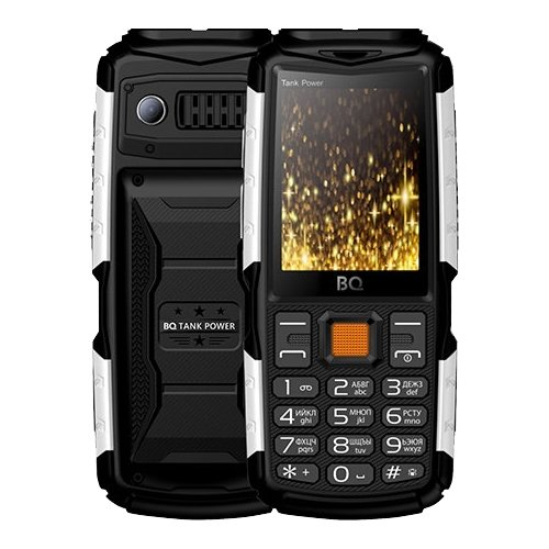 Телефон BQ 2430 Tank Power черный/серебристый телефон