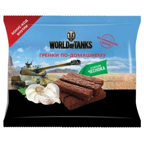United Food Group гренки World of Tanks по-домашнему пшенично-ржаные с натуральным чесноком, 80 гСухарики<br>