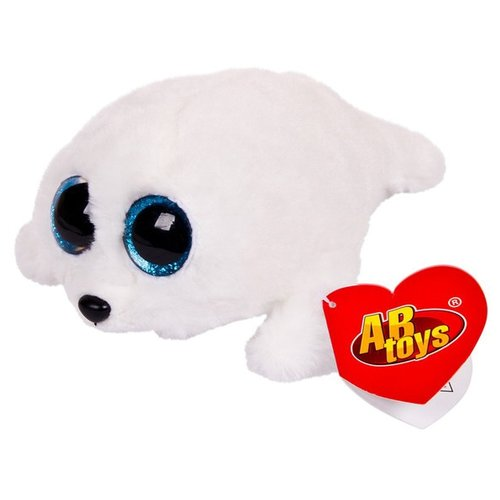 Мягкая игрушка ABtoys Тюлень белый 5 см