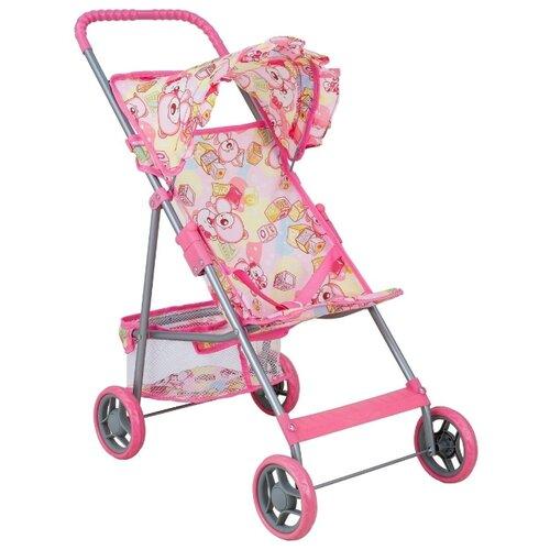Купить Прогулочная коляска Buggy Boom Mixy (8008) светло-розовый/мишки, Коляски для кукол