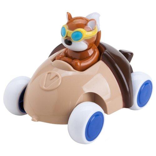 Купить Машинка Viking Toys Cute Racer Acorn (1366) 14 см коричневый, Машинки и техника