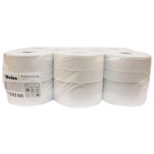 Туалетная бумага Veiro Professional Comfort T203 белая двухслойная 12 рул.