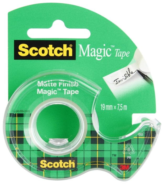 Клейкая лента 3M Scotch Magic 8-1975D, 19мм*7,5м, матовая